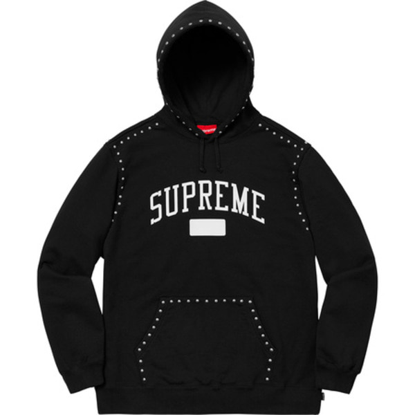 [해외] 슈프림 스터디드 후드 Supreme Studded Hooded Sweatshirt 18FW